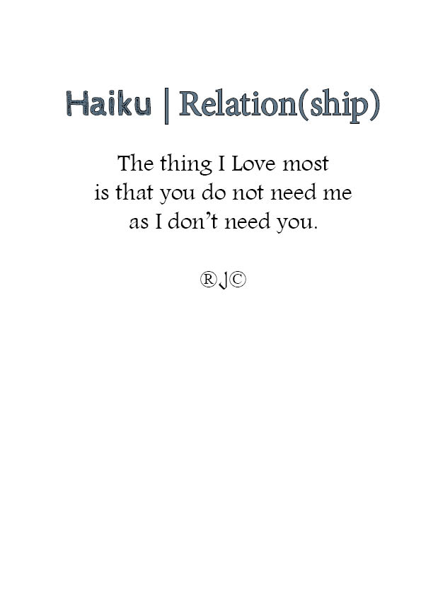 haiku- Relation(ship)