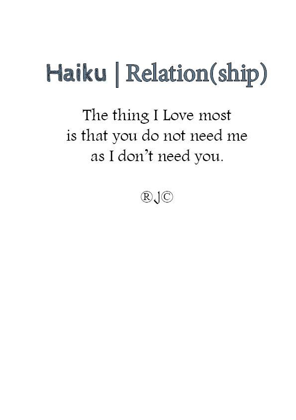 haiku- Relation(ship)